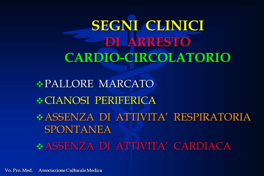 SEGNI CLINICI DI ARRESTO CARDIO-CIRCOLATORIO