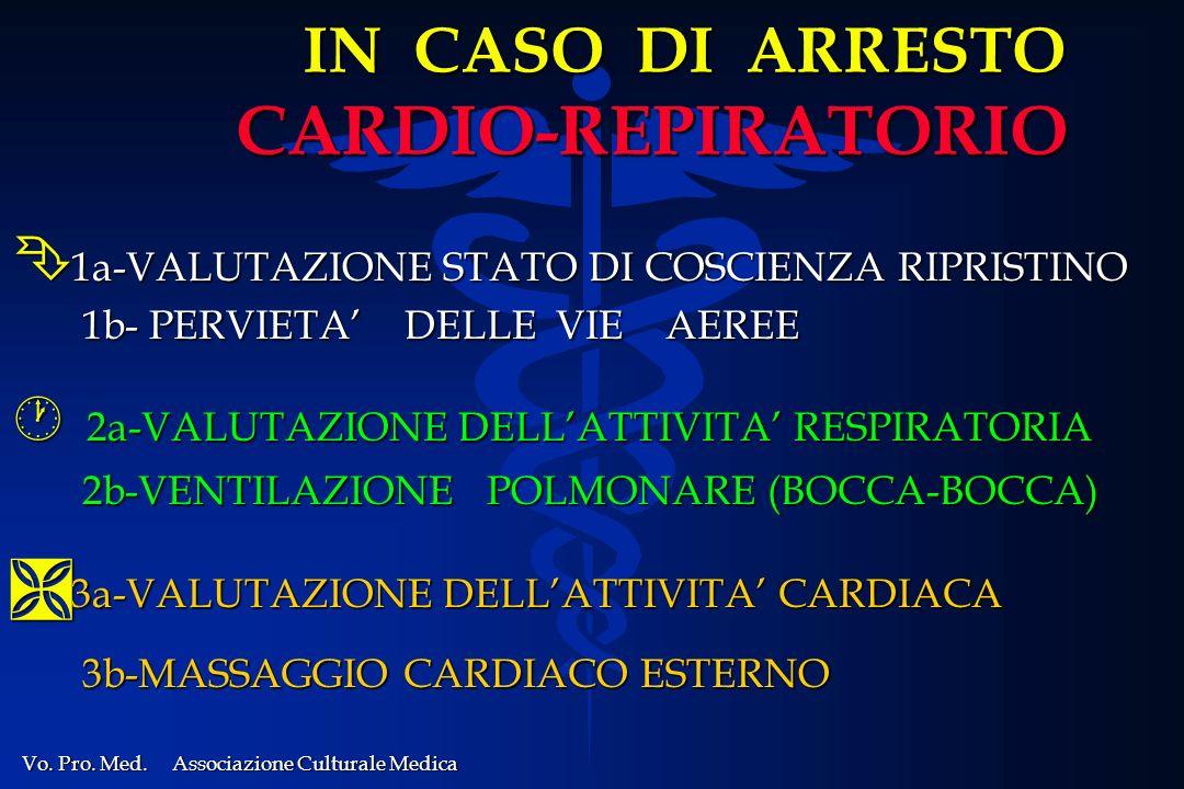 IN CASO DI ARRESTO CARDIO-REPIRATORIO