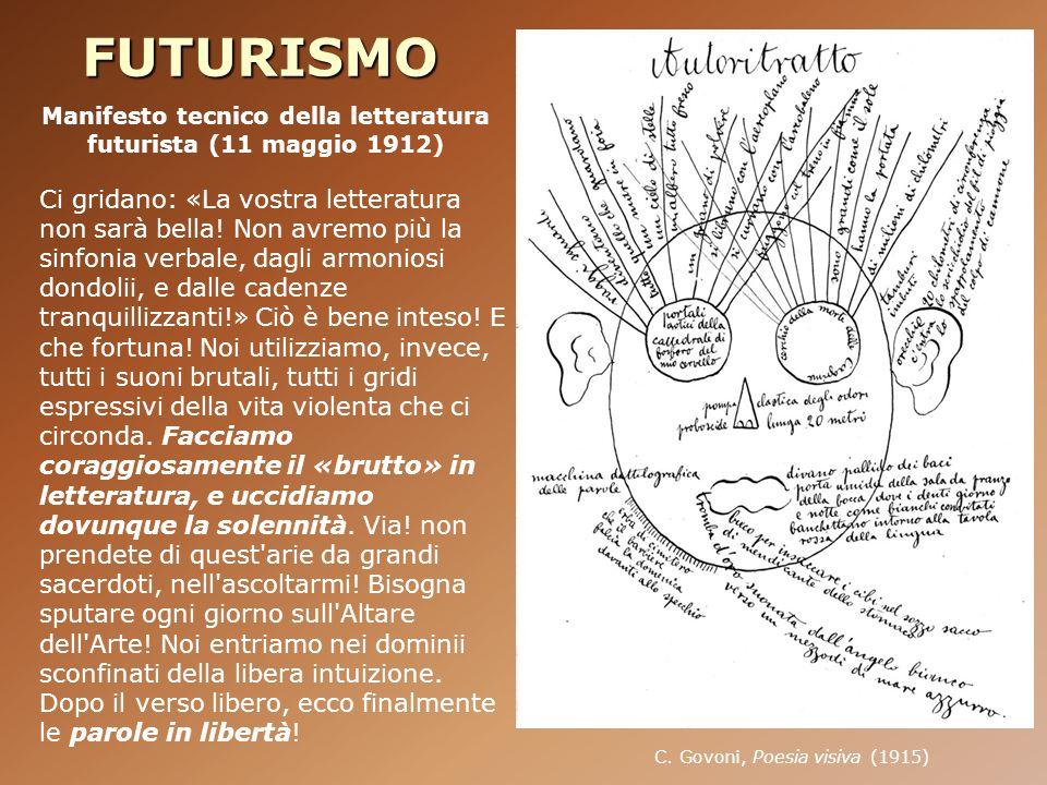 Manifesto tecnico della letteratura futurista (11 maggio 1912)