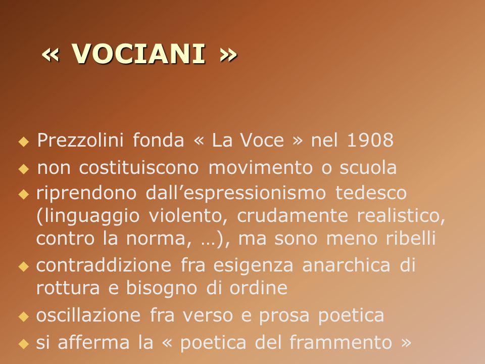 « VOCIANI » Prezzolini fonda « La Voce » nel 1908