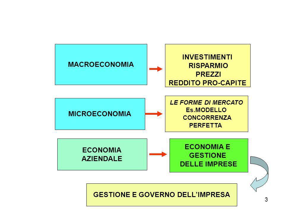 GESTIONE E GOVERNO DELL'IMPRESA