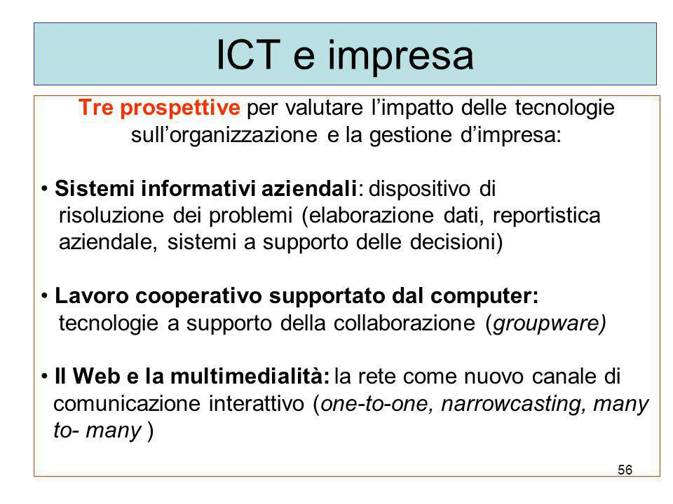 ICT e impresa Tre prospettive per valutare l'impatto delle tecnologie