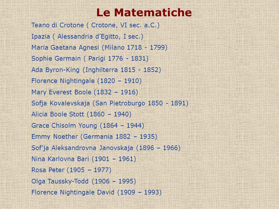 Le Matematiche Teano di Crotone ( Crotone, VI sec. a.C.)