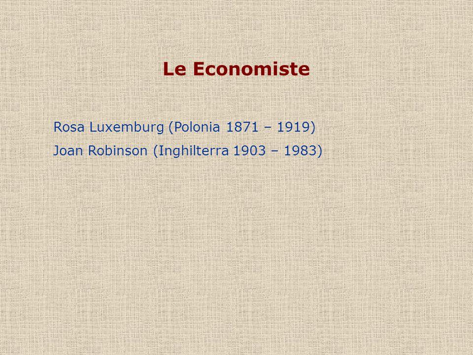 Le Economiste Rosa Luxemburg (Polonia 1871 – 1919)