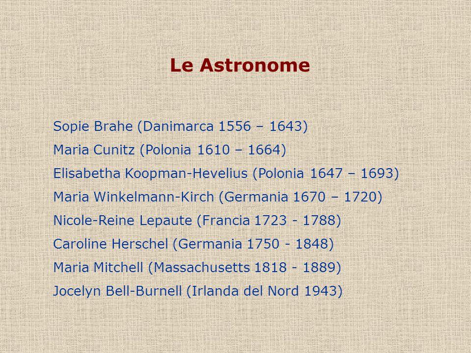 Le Astronome Sopie Brahe (Danimarca 1556 – 1643)