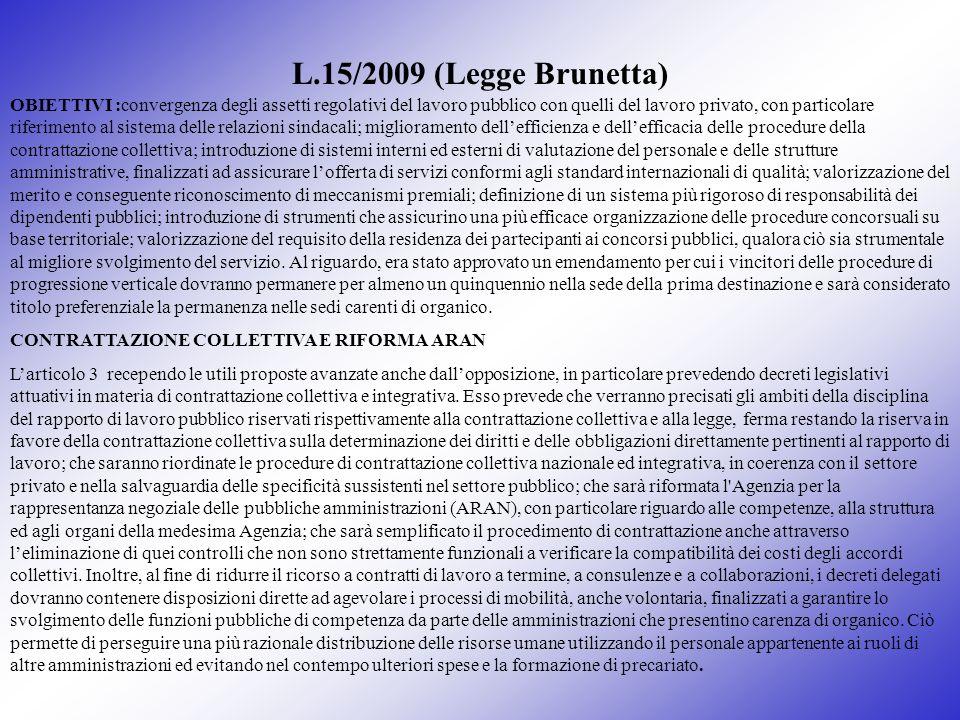 L.15/2009 (Legge Brunetta)