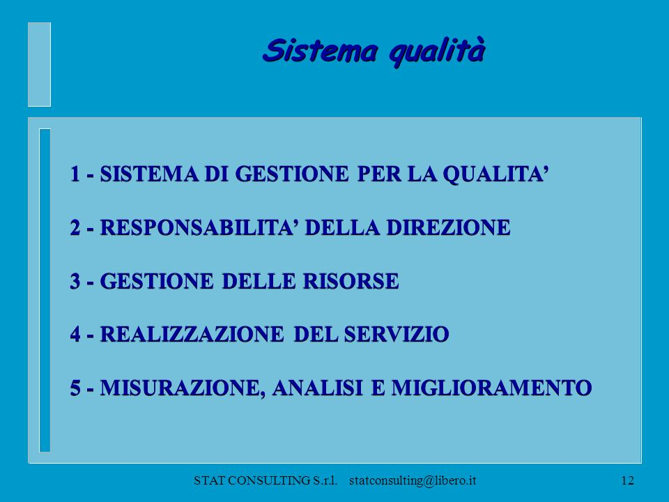 STAT CONSULTING S.r.l. statconsulting@libero.it