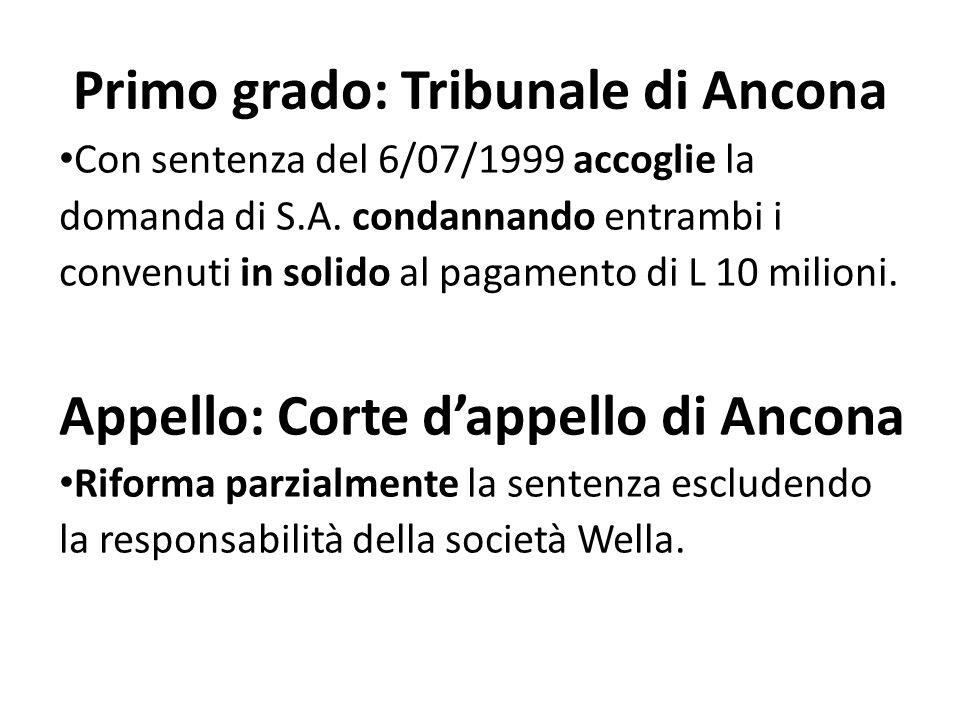 Primo grado: Tribunale di Ancona