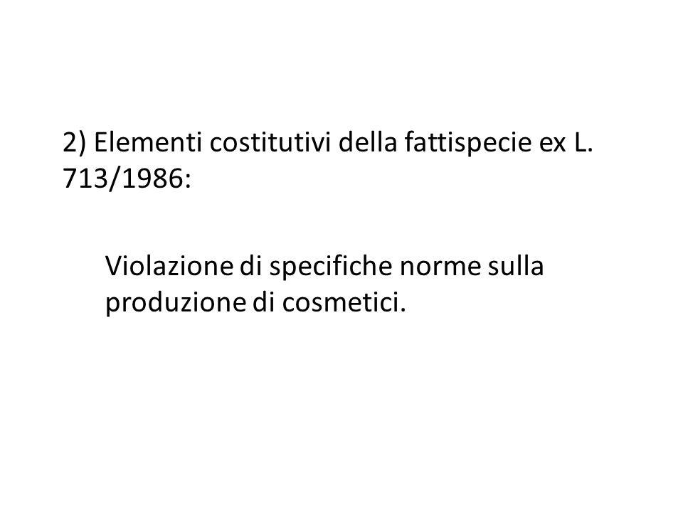 2) Elementi costitutivi della fattispecie ex L