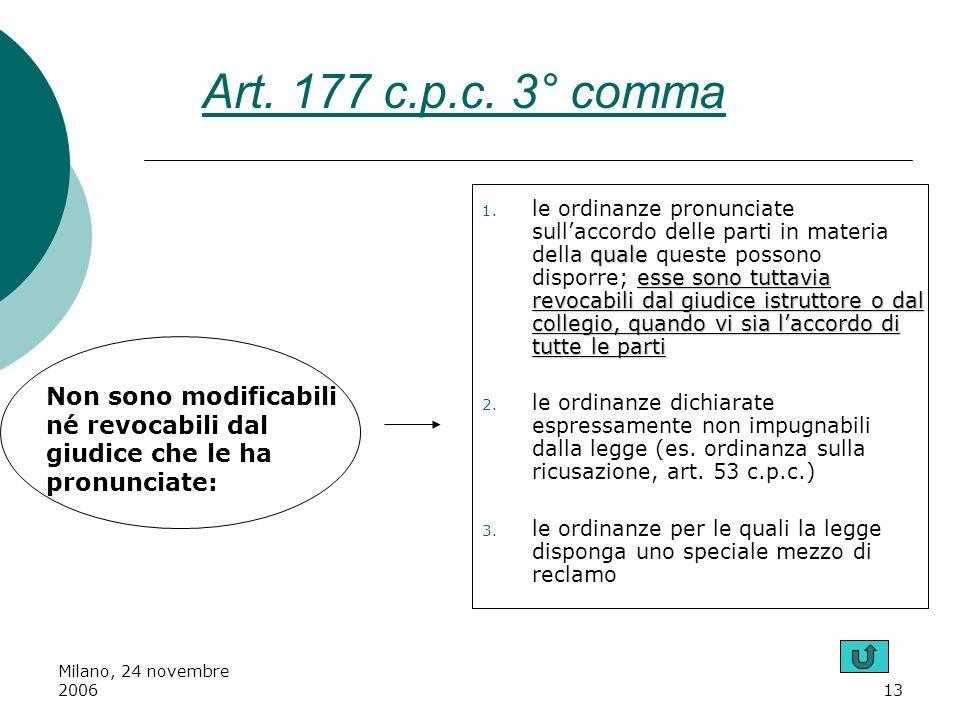Art. 177 c.p.c. 3° comma