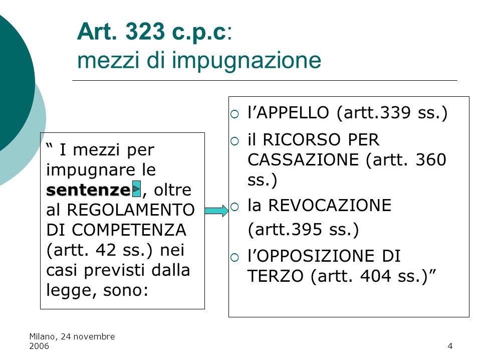 Art. 323 c.p.c: mezzi di impugnazione