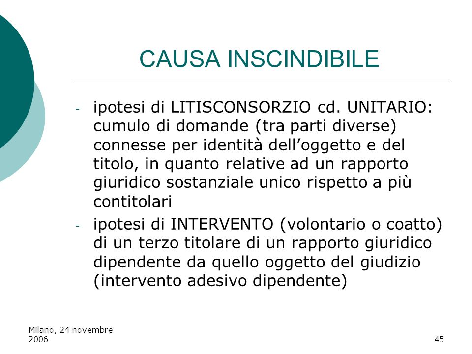 CAUSA INSCINDIBILE
