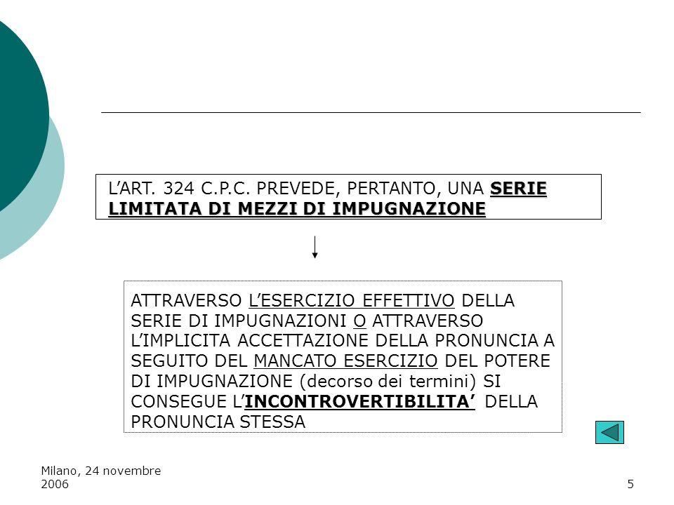 L'ART. 324 C.P.C. PREVEDE, PERTANTO, UNA SERIE LIMITATA DI MEZZI DI IMPUGNAZIONE