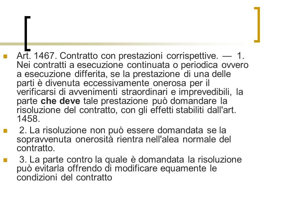 Art. 1467. Contratto con prestazioni corrispettive. — 1