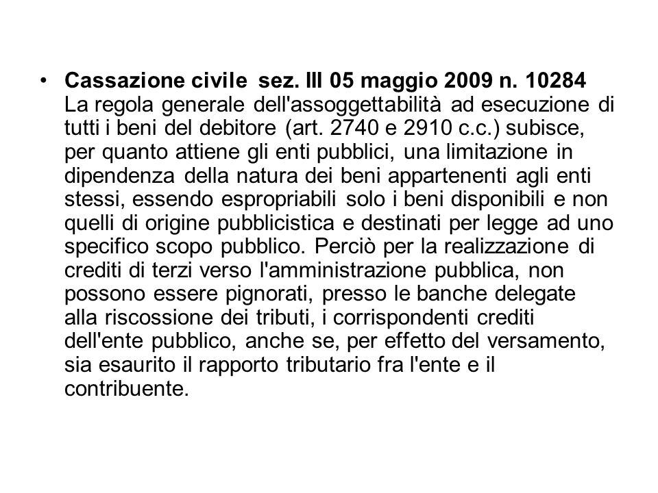 Cassazione civile sez. III 05 maggio 2009 n