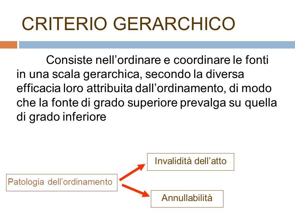 CRITERIO GERARCHICO