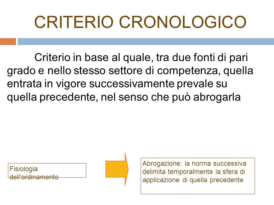CRITERIO CRONOLOGICO