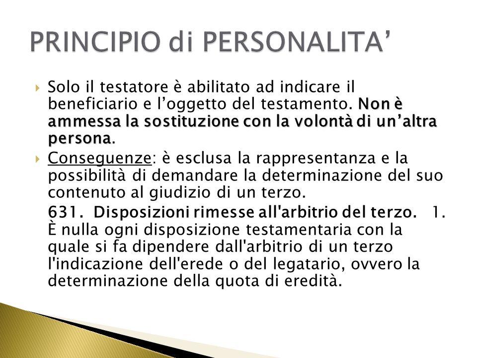 PRINCIPIO di PERSONALITA'