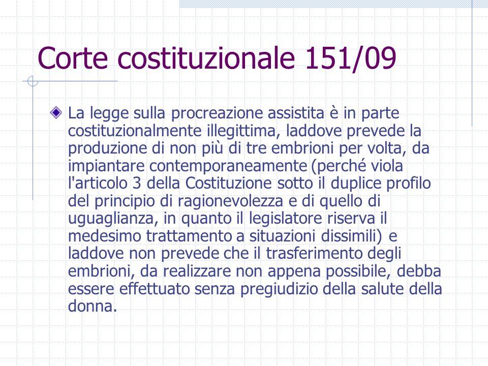Corte costituzionale 151/09