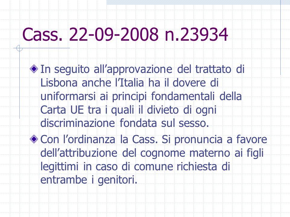 Cass. 22-09-2008 n.23934