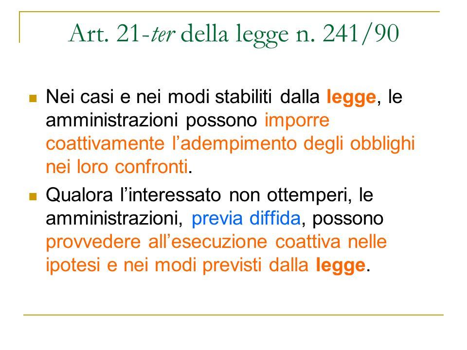 Art. 21-ter della legge n. 241/90