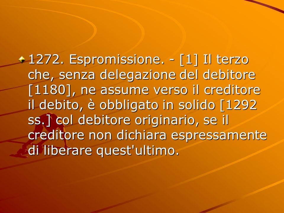1272. Espromissione.