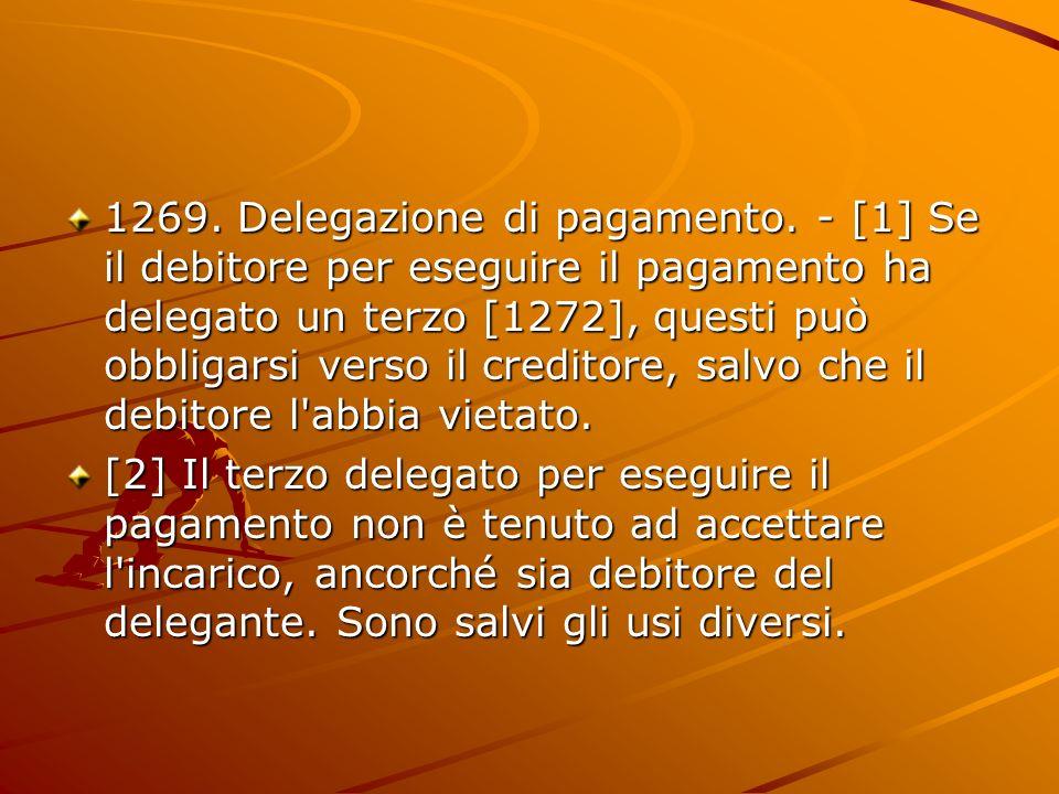 1269. Delegazione di pagamento