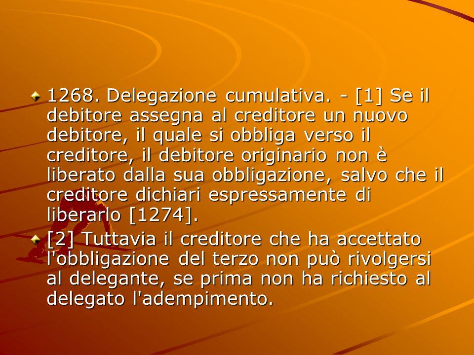 1268. Delegazione cumulativa