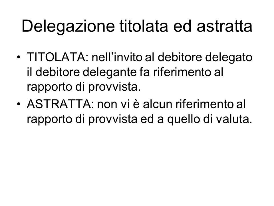 Delegazione titolata ed astratta