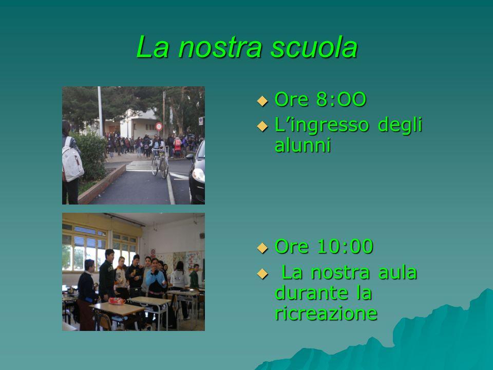 La nostra scuola Ore 8:OO L'ingresso degli alunni Ore 10:00