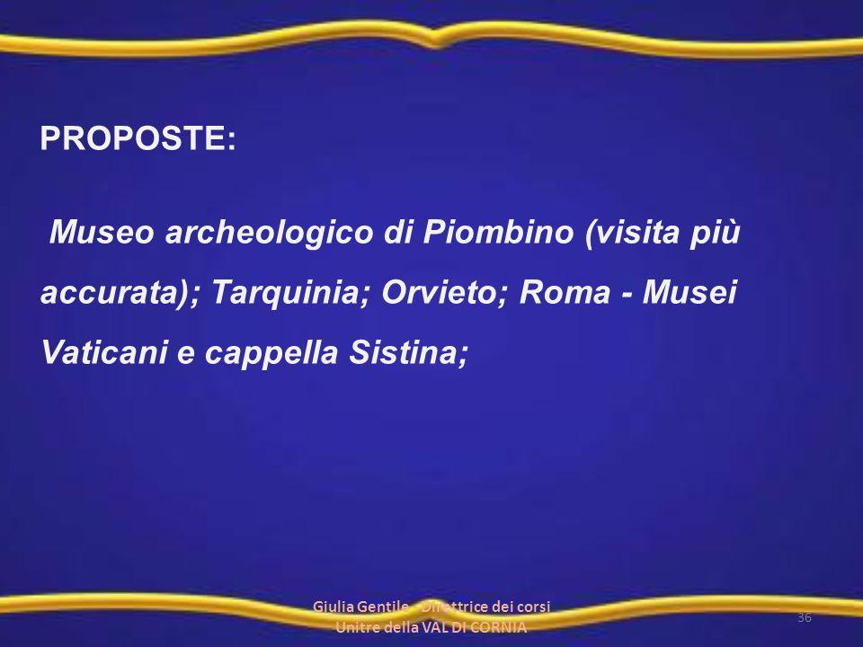 Giulia Gentile - Direttrice dei corsi Unitre della VAL DI CORNIA