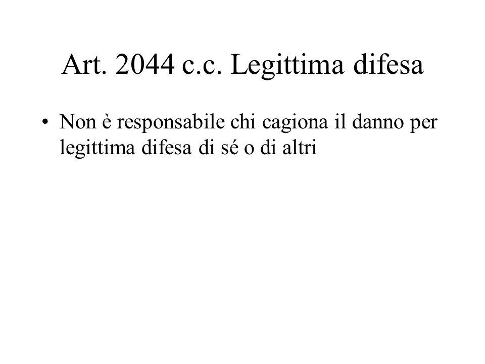Art. 2044 c.c. Legittima difesa