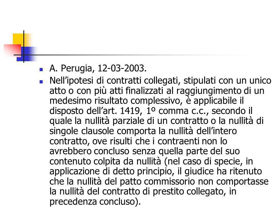 A. Perugia, 12-03-2003.