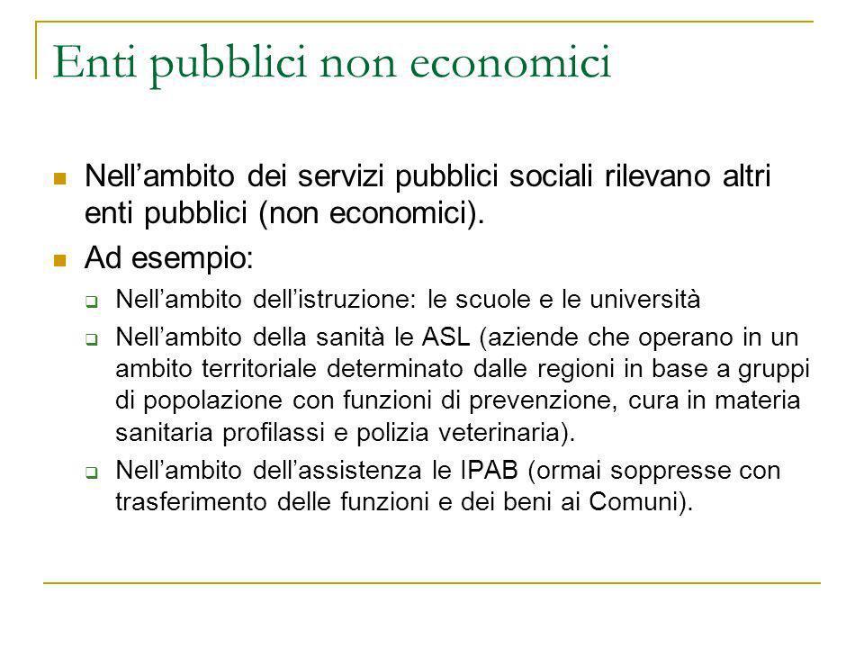 Enti pubblici non economici