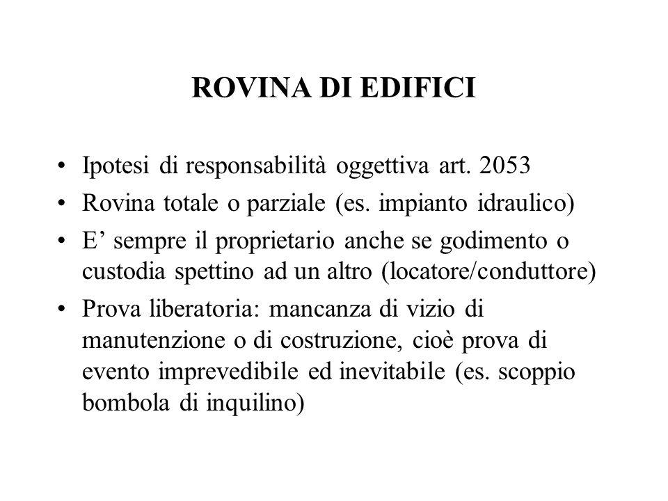 ROVINA DI EDIFICI Ipotesi di responsabilità oggettiva art. 2053