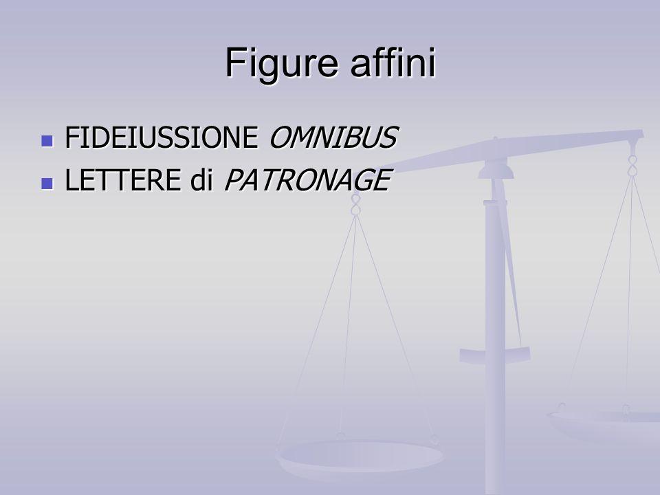 Figure affini FIDEIUSSIONE OMNIBUS LETTERE di PATRONAGE