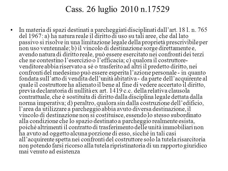 Cass. 26 luglio 2010 n.17529
