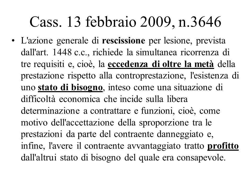Cass. 13 febbraio 2009, n.3646