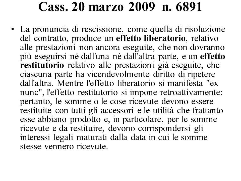 Cass. 20 marzo 2009 n. 6891