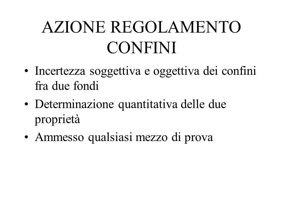 AZIONE REGOLAMENTO CONFINI