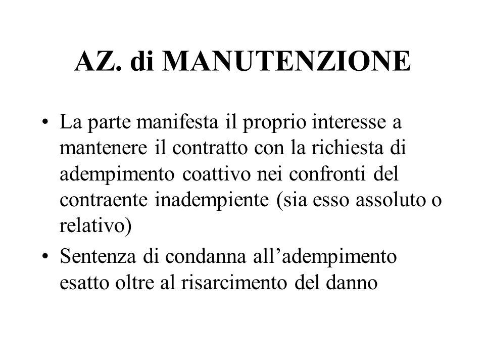 AZ. di MANUTENZIONE