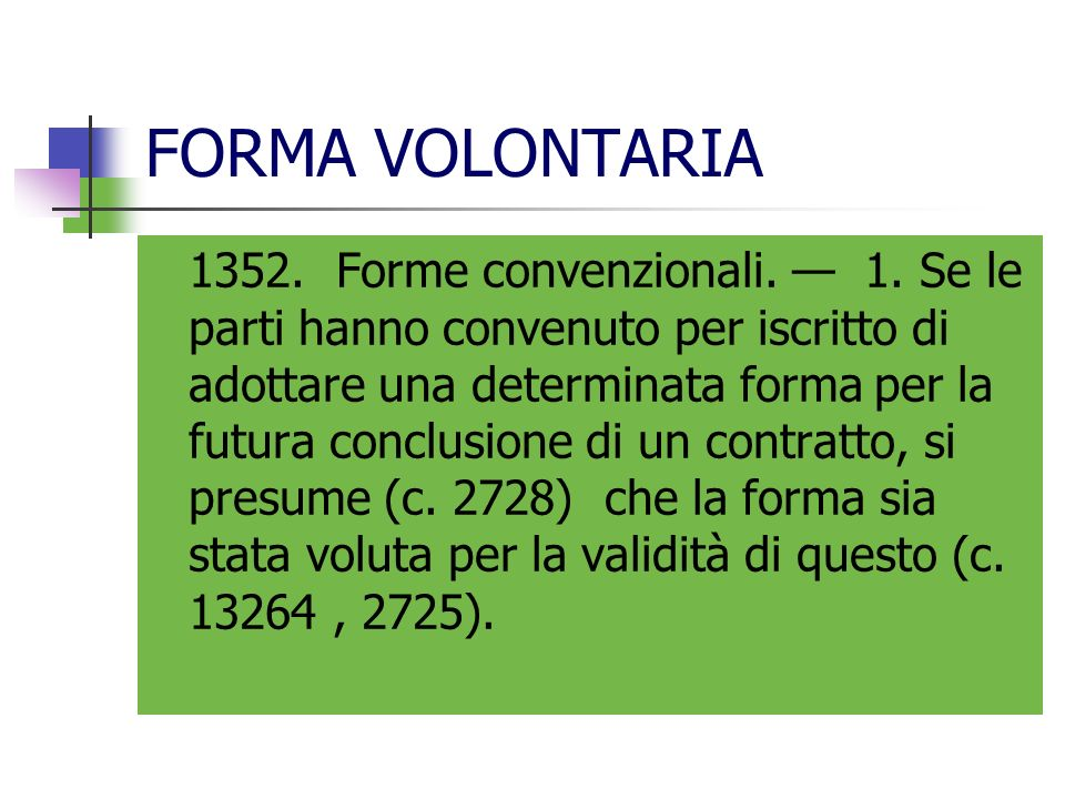 FORMA VOLONTARIA