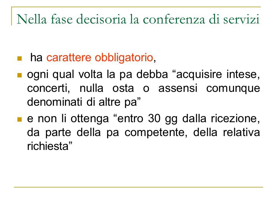 Nella fase decisoria la conferenza di servizi