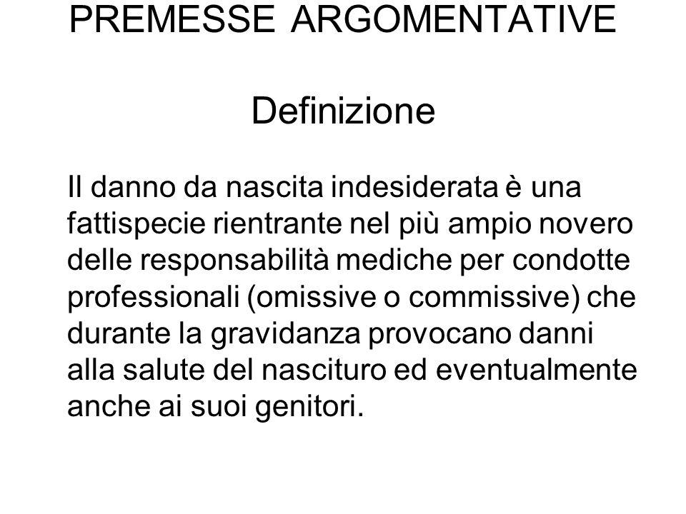 PREMESSE ARGOMENTATIVE Definizione