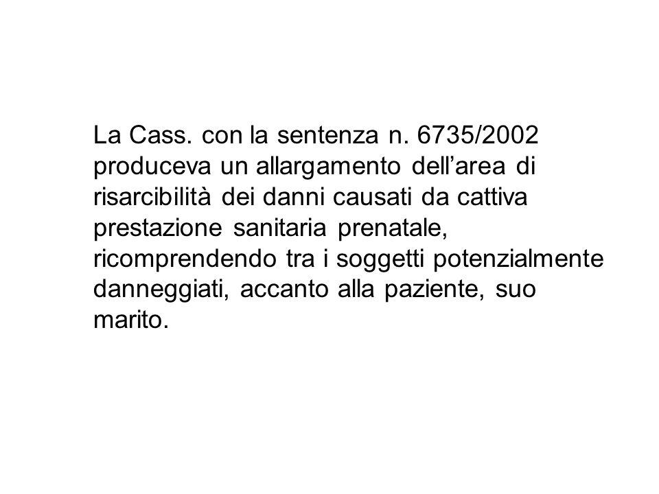 La Cass. con la sentenza n