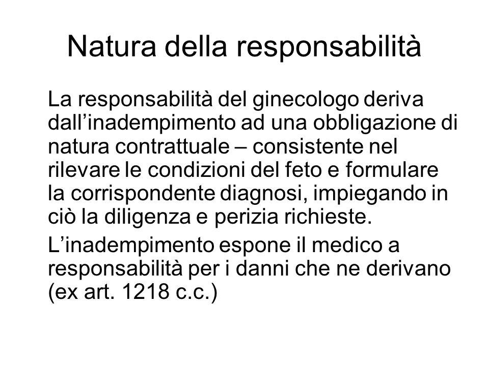 Natura della responsabilità
