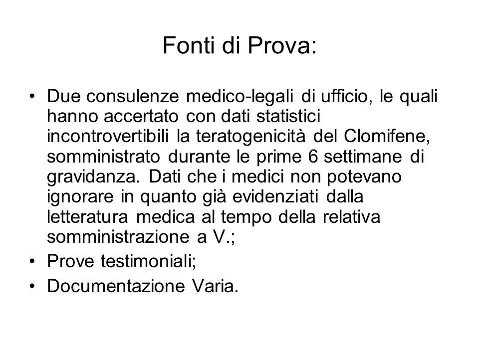 Fonti di Prova: