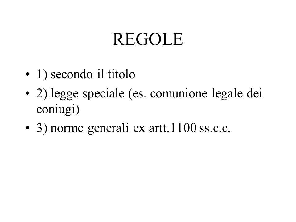 REGOLE 1) secondo il titolo