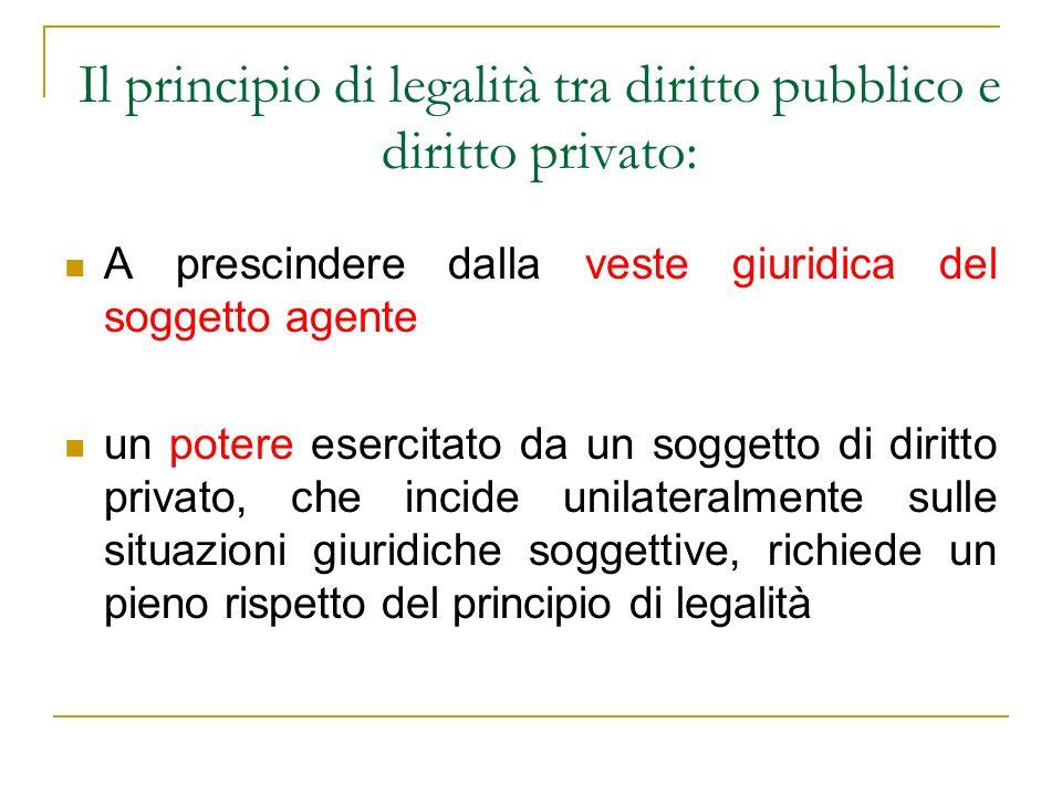 Il principio di legalità tra diritto pubblico e diritto privato: