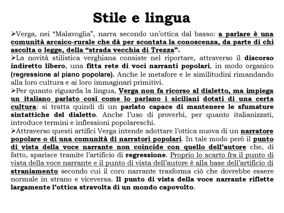 Stile e lingua
